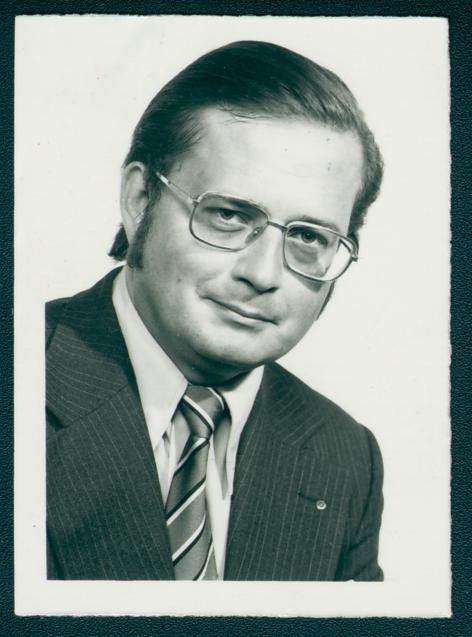 Portret van Guy Schrans, 1974 (Collectie Liberaal Archief/Liberas)