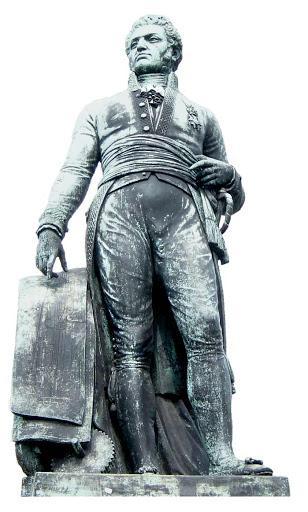 Standbeeld van Lieven Bauwens (1769-1822) op het Gentse Lieven Bauwensplein, Nijveraar en burgemeester van Gent 1800-1801
