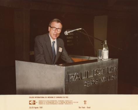 Roger Claeys (1924-2020), congres Sao Paulo, 1981, foto familie Claeys