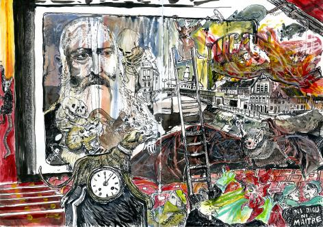 Jo Clauwaert, 'Gent en Cholera 2', 2020 (mixed media), © Jo Clauwaert