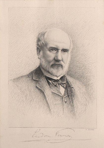 De liberale volksvertegenwoordiger Eudore Pirmez pleitte in 1875 tevergeefs voor het openstellen van medische beroepen voor vrouwen (Gravure van A. Danse uit 1893, Wikimedia Commons).
