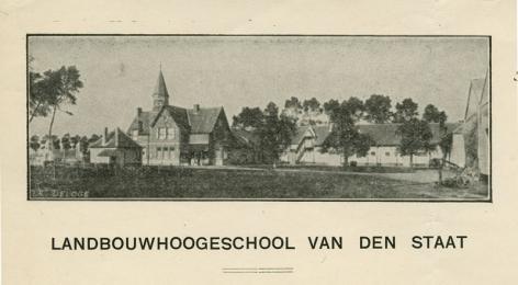 Briefhoofd van de Rijkslandbouwhoogeschool (Collectie Universiteitsarchief Gent).