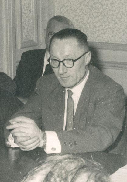 Richard Verbist tijdens een faculteitsvergadering van de Letteren en Wijsbegeerte (Collectie Universiteitsarchief Gent).