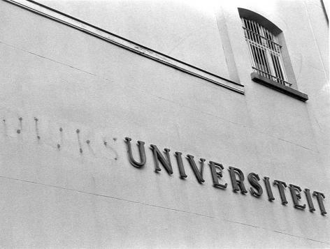 In 1991 verdwijnt de naam 'Rijksuniversiteit Gent'. Voortaan heet de universiteit  'Universiteit Gent' of 'UGent' (Collectie Universiteitsarchief Gent - foto Fotoklas UGent).