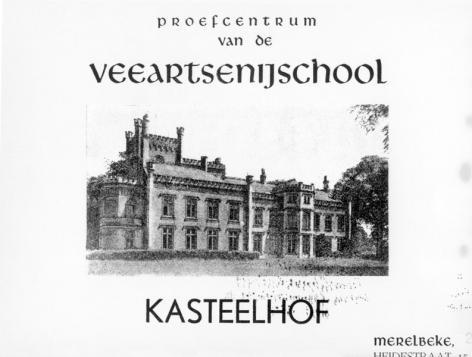 Proefhoeve Kasteelhof van de Veeartsenijschool in Merelbeke (Collectie Universiteitsarchief Gent).