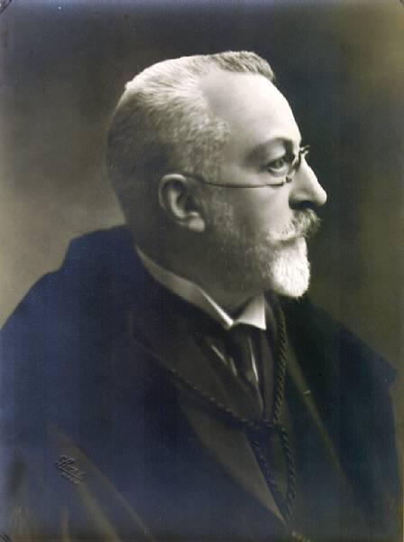Henri Pirenne, historicus, hoogleraar en rector van de Gentse universiteit in 1919-1920 en 1920-1921 (Collectie Universiteitsbibliotheek, © UGent).