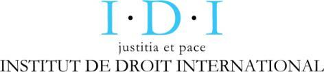 Logo van het Institut de Droit International, gesticht in 1873 in Gent door onder andere Albéric Rolin (Website IDI).