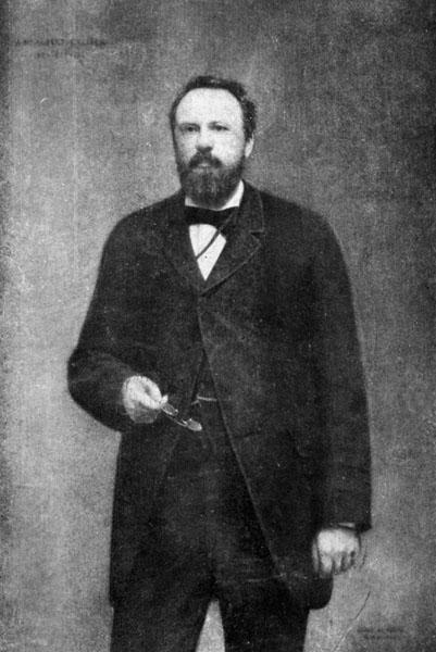 Jurist Albert Callier, rector van 1880 tot 1885 (Collectie Universiteitsbibliotheek).