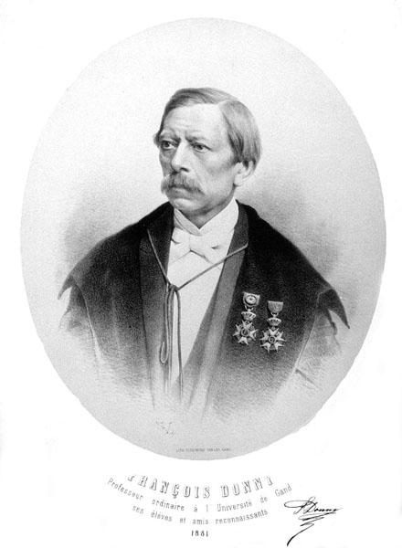François Donny, hoogleraar aan de faculteit Wetenschappen (Collectie Universiteitsarchief Gent).