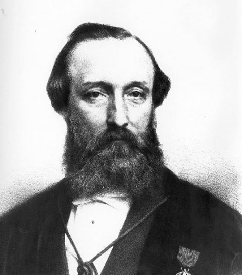 Nicolas Du Moulin, arts en rector van de UGent in 1880-1881 (Collectie Universiteitsarchief Gent).