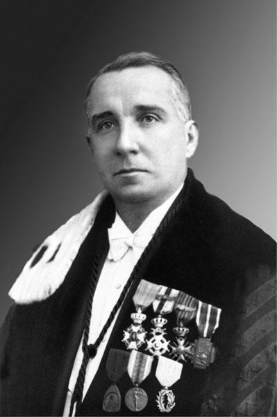 Baron Louis Fredericq, hoogleraar aan de faculteit Rechten en rector in 1936-1937 en 1937-1938 (Collectie Universiteitsbibliotheek Gent - foto Edmond Sacré).