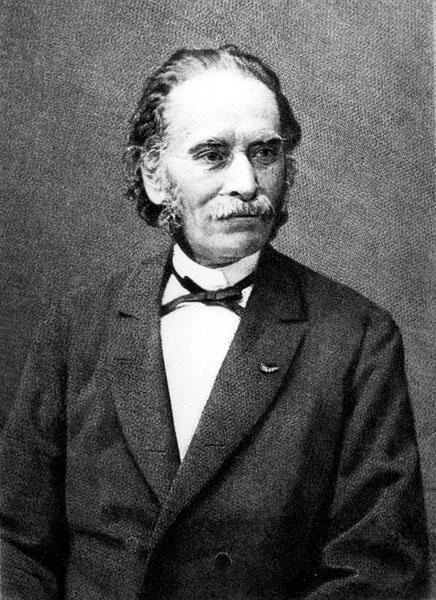 Portret van de negentiende-eeuwse letterkundige en hoogleraar Jacob Heremans (Collectie Universiteitsarchief Gent).