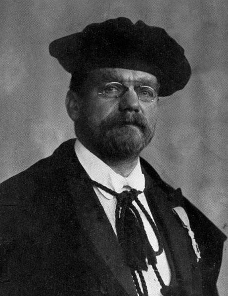 Jan Frans Heymans, hoogleraar aan de faculteit Geneeskunde en rector van de Nolfuniversiteit in 1923-1924 (Collectie Universiteitsarchief Gent).