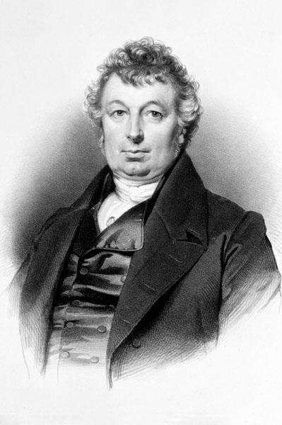 Portret van de Gentse medicus Jacques Kesteloot, rector van de Gentse universiteit in 1825-1826 en 1834-1835 (Collectie Universiteitsbibliotheek Gent).