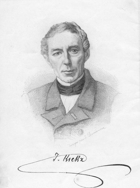 De negentiende-eeuwse hoogleraar Jean Kickx (Collectie Universiteitsarchief Gent).