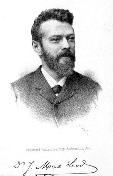 Julius Mac Leod, bloembioloog, flamingant en oprichter van 'Hoger Onderwijs voor het Volk' (Collectie Universiteitsarchief Gent).