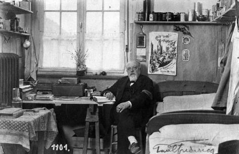 Paul Fredericq in gevangenschap in Duitsland (Collectie Universiteitsarchief Gent).
