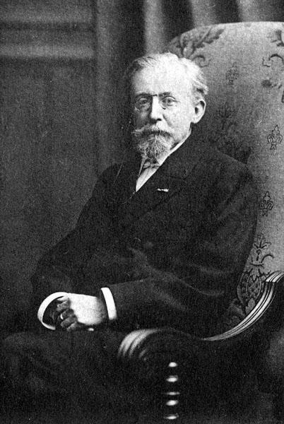 Alberic Rolin, een van de stichters van het Institut de Droit International dat in 1904 de Nobelprijs kreeg (Collectie Universiteitsarchief Gent).