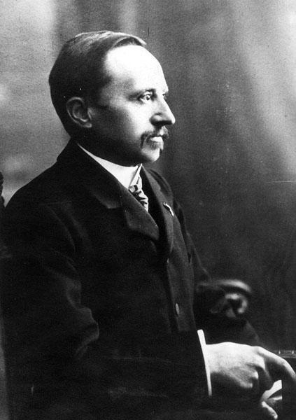 Jules Van Biervliet , voorman van de experimentele en fysiologische psychologie (Collectie Universiteitsarchief Gent).