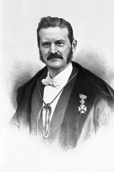 Gustave Van der Mensbrugghe, hoogleraar aan de faculteit Wetenschappen en rector in 1900-1903 (Collectie Universiteitsarchief Gent).