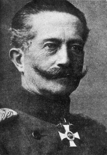 Moritz von Bissing, gouverneur-generaal in België tijdens de Eerste Wereldoorlog (Collectie Universiteitsarchief Gent).