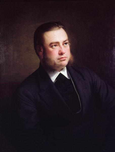 Gustave Boddaert, arts, vernieuwer van de Belgische chirurgie en broer van Richard Boddaert (Collectie Universiteitsarchief Gent - herkomst schilderij onbekend).