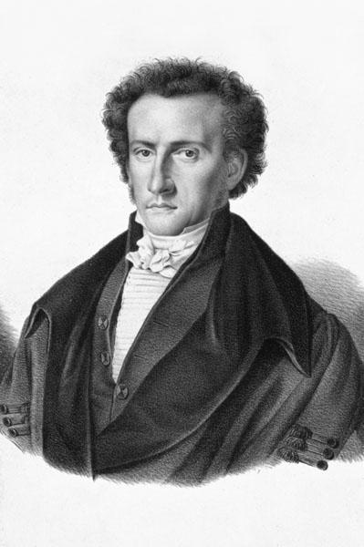 Jurist Jacques Haus, rector in 1827-1828, 1833-1834, 1835-1838 en 1864-1867 (Collectie Universiteitsarchief Gent).