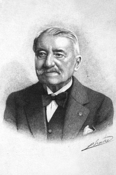 Paul Thomas, hoogleraar aan de faculteit Letteren en Wijsbegeerte en rector in 1903-1906 (Collectie Universiteitsarchief Gent).
