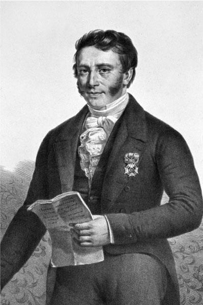 Jean-Baptiste Minne-Barth, hoogleraar aan de faculteit Rechtsgeleerdheid en rector in 1845-1846 (Collectie Universiteitsbibliotheek Gent).