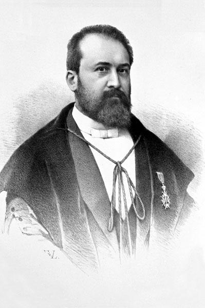 Anatoom en medisch-historicus Hector Leboucq, hoogleraar aan de faculteit Geneeskunde en rector in 1906-1909 (Collectie Universiteitsbibliotheek Gent).