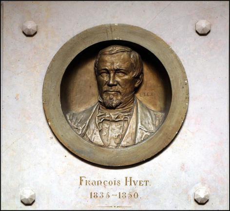 Plaket met de afbeelding van de filosoof François Huet (Collectie Universiteitsarchief Gent, ©UGent - foto Hilde Christiaens).