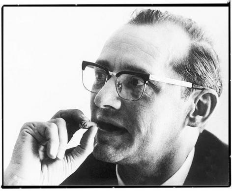 André Vlerick, in 1953 oprichter van het Seminarie voor Produktiviteitsstudie en -Onderzoek, de voorloper van de Vlerickschool voor Management (Collectie Universiteitsarchief Gent).