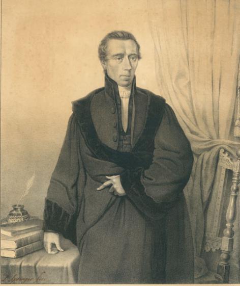 Johan Thorbecke, historicus en hoogleraar aan de faculteit Letteren en Wijsbegeerte van de Gentse universiteit tijdens de Hollandse periode (Collectie Universiteitsarchief Gent).