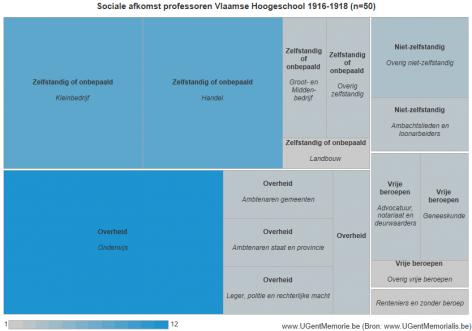 Sociale afkomst professoren Vlaamse Hogeschool