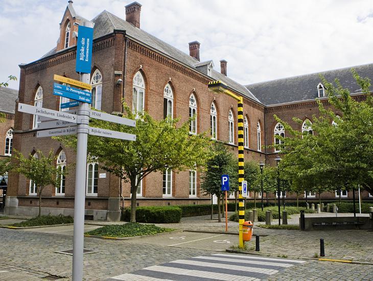 De oude ziekenhuissite de Bijloke is tegenwoordig een cultuursite (Collectie UGentMemorie, © UGent - foto Pieter Morlion).