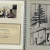 Pagina uit persoonlijk album over de eerste succesvolle longtransplantatie ter wereld in 1968, bijgehouden door geneesheer Fritz Derom, met nieuwjaarswensen door patiënt en familie (privécollectie familie Derom)