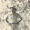 Taalkundige en Luba-specialist Amaat Burssens (1897-1983), grondlegger van de Afrikanistiek aan de UGent, in 1958 tijdens een Congoreis (Collectie Universiteitsbibliotheek UGent, uit Burssens, 'Dagboek vijfde en zesde Kongoreis', 1957-58. BHSL.HS.416).