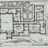 Grondplan van het Torenhuis in Sint-Martens-Latem, ontworpen door architect August Desmet in 1917 als atelierwoning voor kunstschilder Albert Servaes (uit Société centrale d'architecture, 'Rythme', 1950)