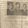 Het bodemkundige onderzoek van de Gentse geologen (v.l.n.r.) Jacques Laruelle, Paul De Paepe en Georges Stoops op de Galápagoseilanden kreeg ook in de Ecuaduoriaanse pers de nodige aandacht ('El Comercio', 02.06.1962).