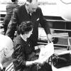 Jurist René Victor samen met zijn vrouw en toeverlaat Frieda De Meulemeester in 1960 (uit Buyck, 'René Victor,' 1997).