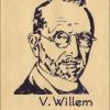 Herinneringsportret uit 1967 van bioloog Victor Willem (1866-1952), gemaakt n.a.v. de viering van 150 jaar Universiteit Gent (© UGent, collectie Universiteitsbibliotheek).