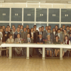Afscheidsfeest van Willy Dekeyser in 1980 in gebouw S1 van de Sterre (foto uit p