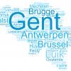 Wordmap van de herkomst Belgische professoren UGent 1817-1960