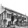De oranjerie van de Plantentuin aan de Ledeganck, ontworpen door stadsarchitect