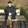 Bioloog Jan Hublé (1923-2009) op 'zijn bankje' in 'zijn' natuurreservaat Bourgoy