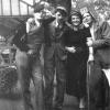Marthe Terryn in 1936 als studente Economische Wetenschappen met enkele medestud