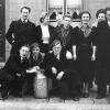 Marthe Terryn, derde van rechts, op uitstap met haar medestudenten in 1938 (foto