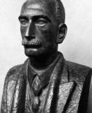 Bronzen buste van Lodewijk De Raet, flamingant en secretaris van de Tweede Hoogeschoolcommissie in 1907 (Collectie Universiteitsarchief Gent - buste door Oscar Jespers).