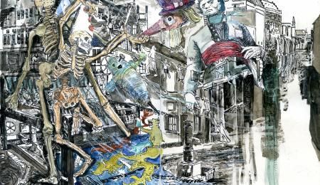 Jo Clauwaert, 'Gent en Cholera', 2020 (mixed media), © Jo Clauwaert