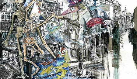 Jo Clauwaert, 'Gent en Cholera', 2020 (mixed media), © Jo Clauwaert